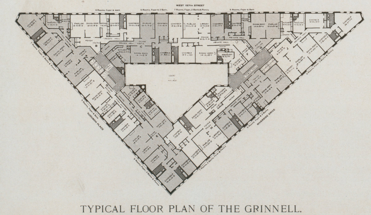 The grinnell at 100 our building for Floor plans manhattan apartment buildings