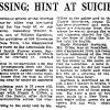"Los Angeles Times, October 27, 1919, p II1, ""MIssing; Hint at Suicide"