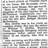 "New York Times: June 17, 1937, ""Mrs. William T. Griffin"""