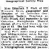 "New York Times: May 23, 1943, ""Miss Elizabeth T. Platt: Librarian 23 Years of American Geographical Society Dies"""